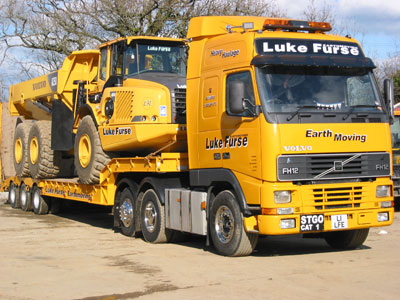 Volvo FH12 Low Loader with Volvo A25D 6×6 Dumper