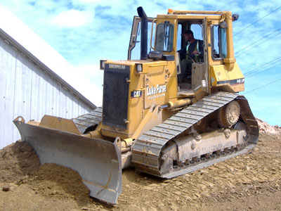 CAT D4H LGP Bulldozer with 6 way pat blade