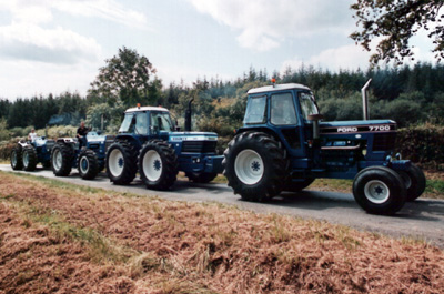 County 1454, Ford 9600, County 1884 & Ford 7700 V8