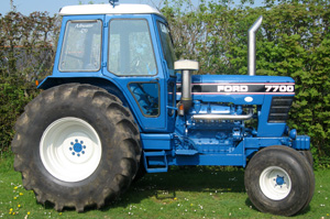 Ford 7700 fitted with Perkins 605 V8 engine