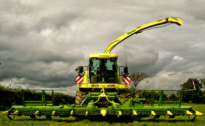 New Krone Big X 700 with 12 row Maize Header – this machine will be used for grass, wholecrop and maize harvesting throughout Devon and Cornwall