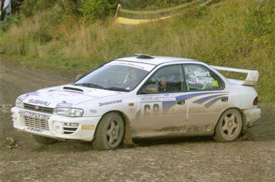 Lloyd Furse and co-driver Rob Short in action at the Woodpecker Stages Rally